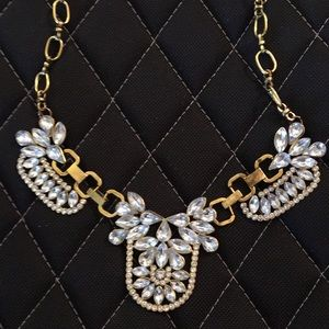 Big Clear Crystal Statement Necklace